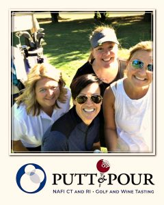 NAFI CT/RI Executive Director Lynn Bishop, center, with some of the team at the Putt & Pour.