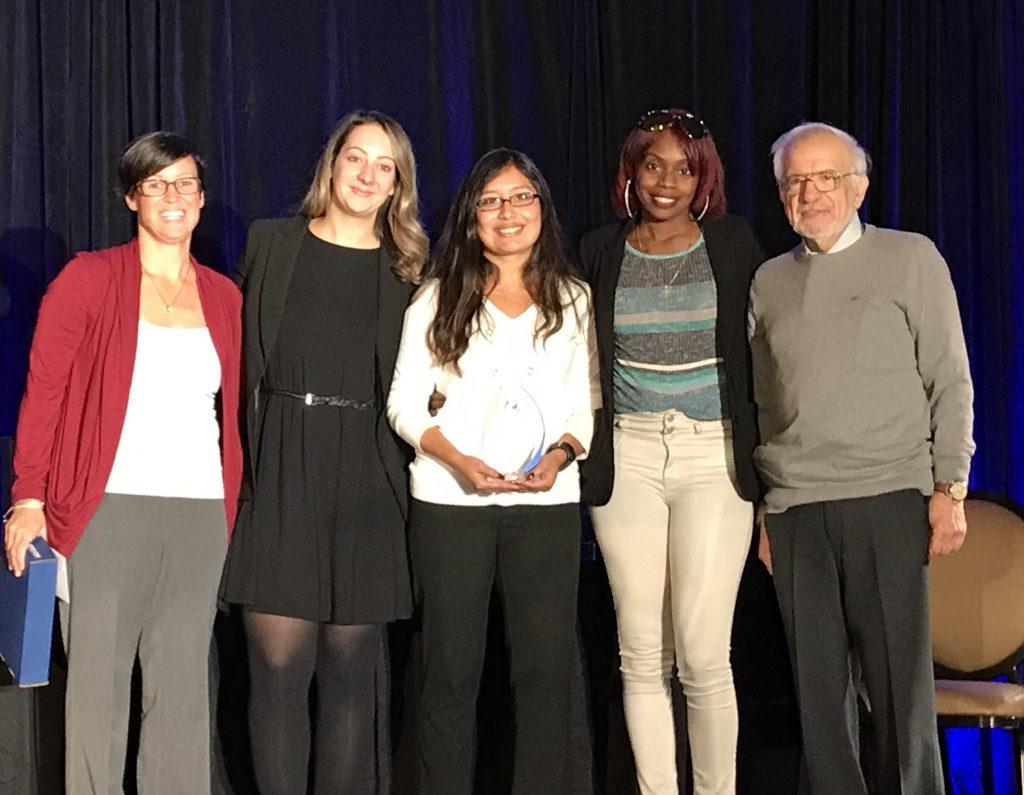 From left, Lynn Bishop, Executive Director of NAFI CT/RI/NY; Celine Conti, Lead Therapist of MST-EA; Lisseth Jurado, Supervisor of MST-EA; Keyonna Crockett, Therapist for MST-EA; and Dr. Bakal, President of NAFI/NFI